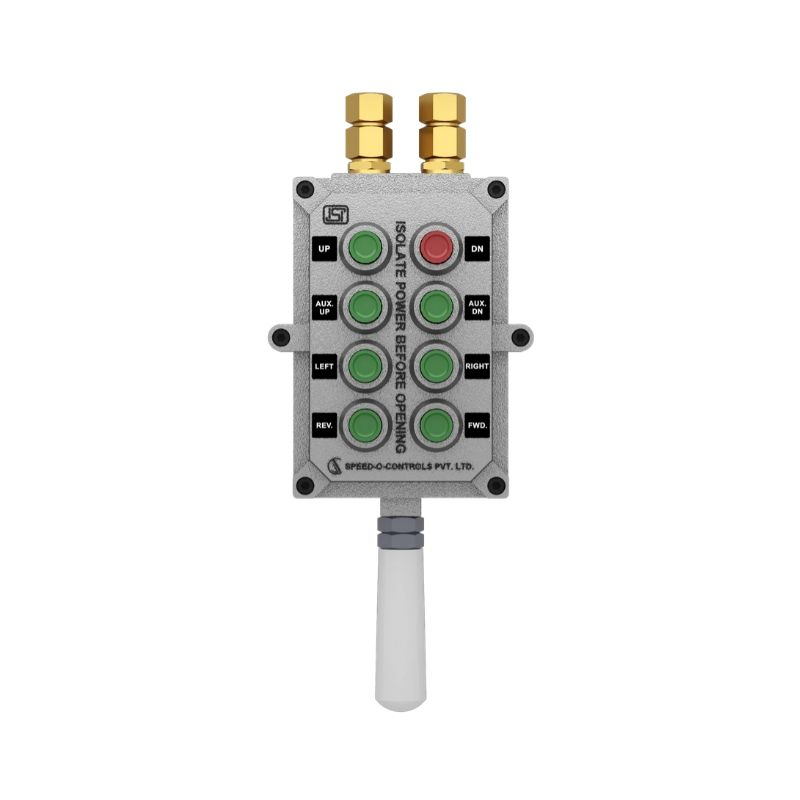 Flame Proof Pendants Push Button Station with 8 Push Button - Zone I & 2, Gas Group 2A/2B