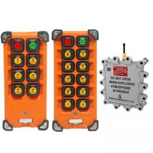 Flame Proof Impact Radio Remote Control System - Gas Group IIA/IIB